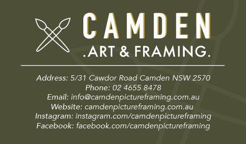 Camden Picture Framing The Australian Local Business Awards